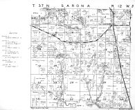 Sarona Township, Shell Lake -Southeast, Washburn County 1952